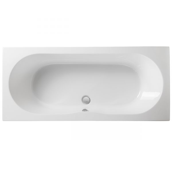 Wave reinforced double ended bath heat retention