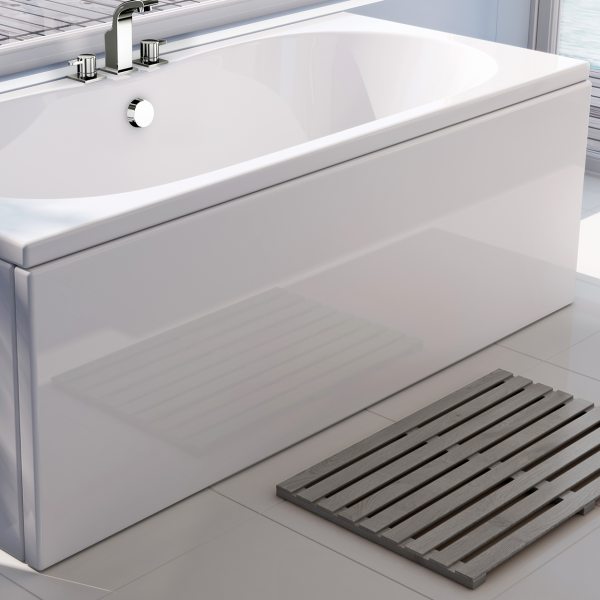 Rigid reinforced acrylic bath panel
