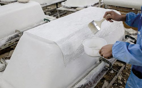 Manufacturing process baths by hand